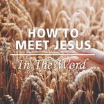 How To Meet Jesus In The Word